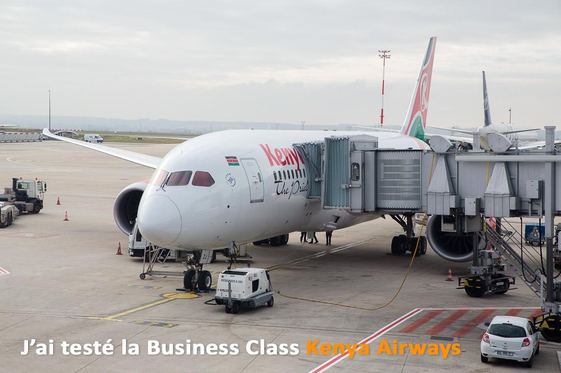 J'ai testé la business class Kenya Airways