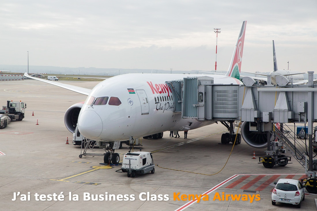 J'ai testé la business class Kenya Airways
