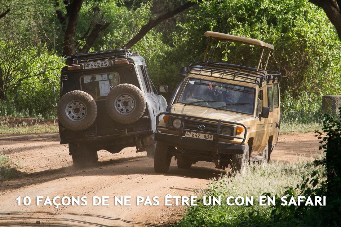 10 façons de ne pas être un con en safari