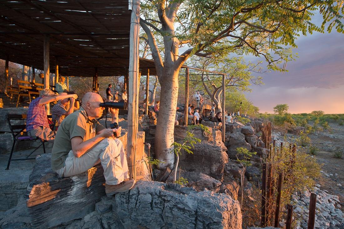Point de vue du camp d'Halali, parc national d'Etosha, Namibie