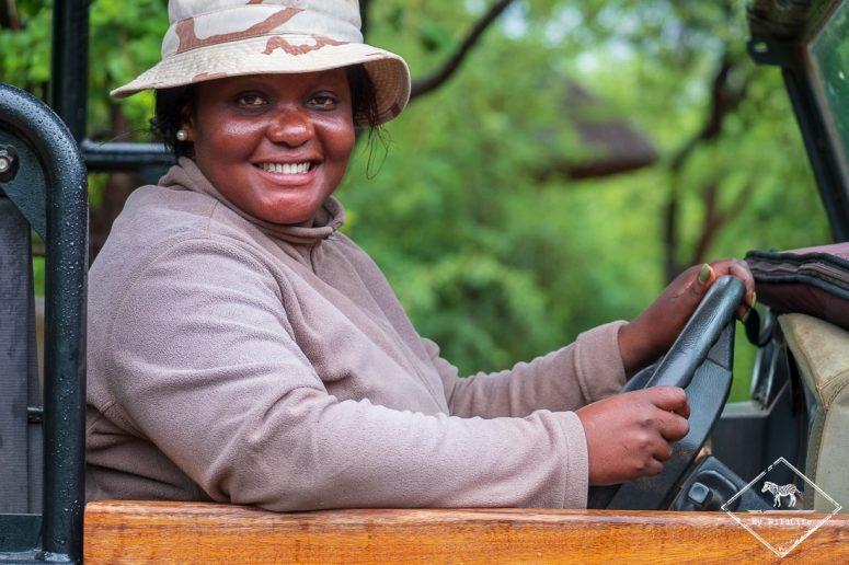 Kgomotso, guide au Mosetlha Bush Camp & Eco Lodge, Madikwe Game Reserve.