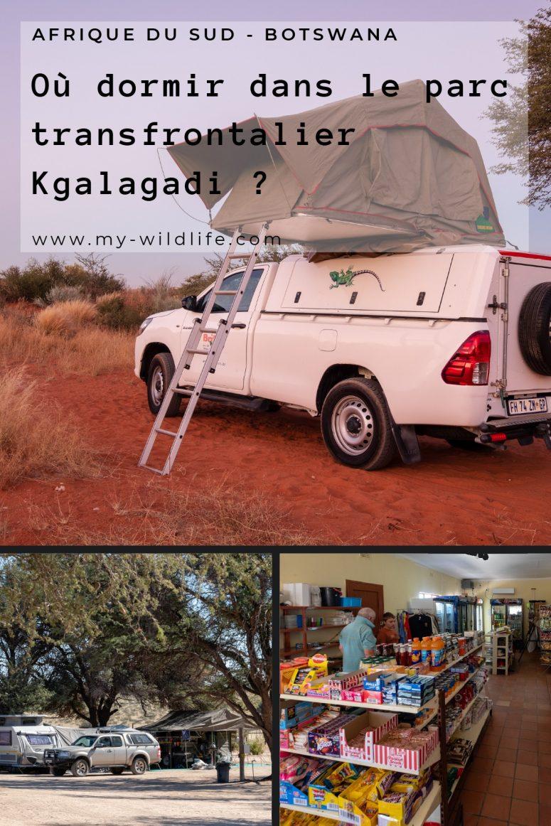 Où dormir dans le parc transfrontalier Kgalagadi ?