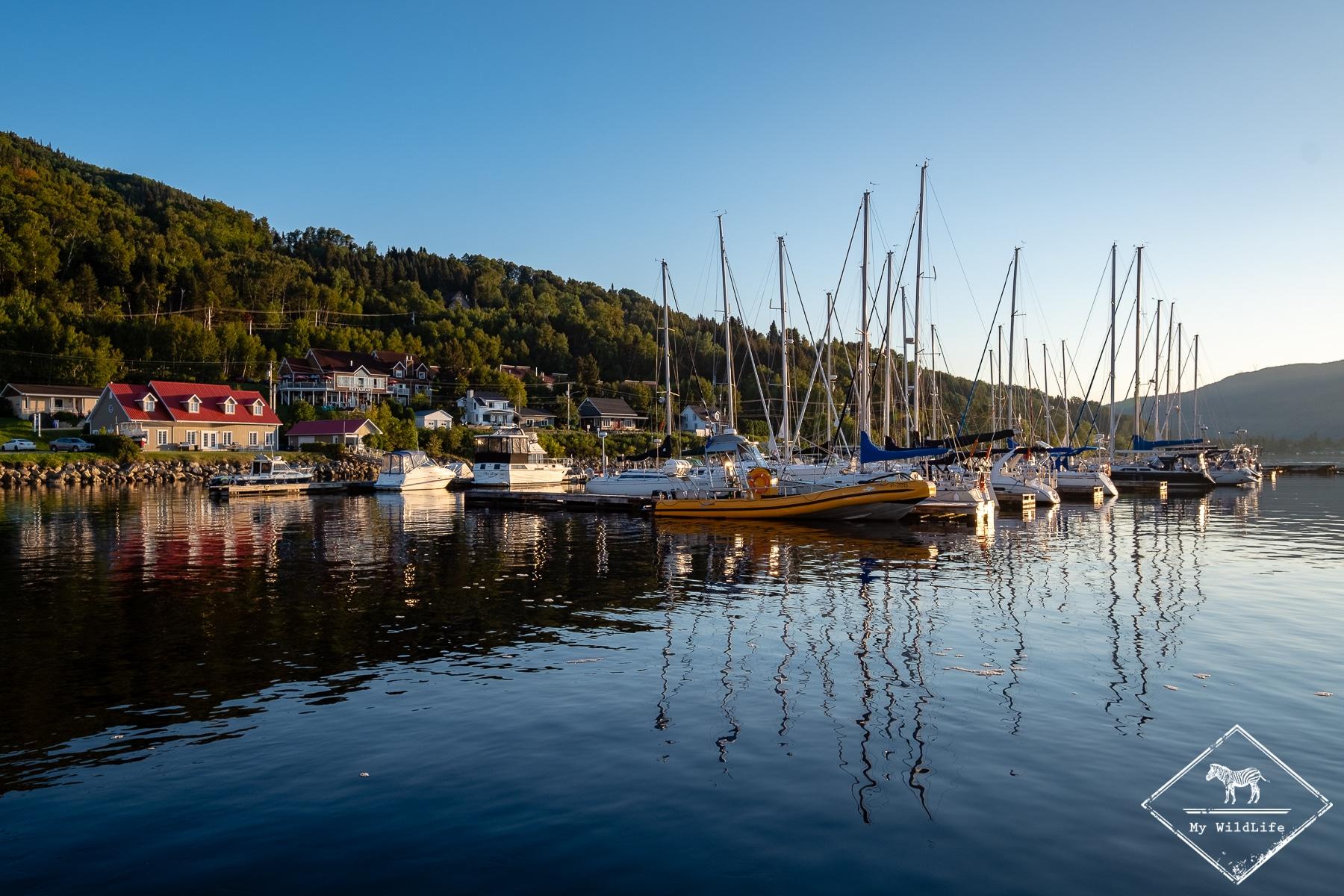 Anse Saint-Jean, fjord du Saguenay, Québec.
