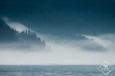 Brume sur le Fjord du Saguenay, Québec