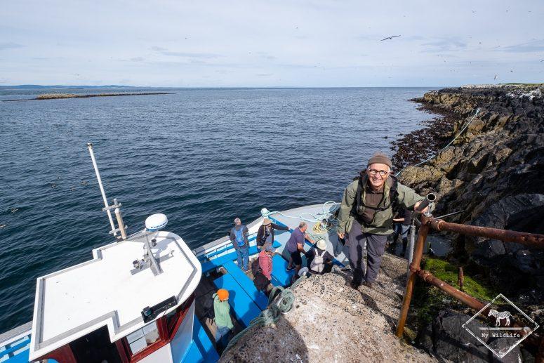 Débarquement sur Staple island