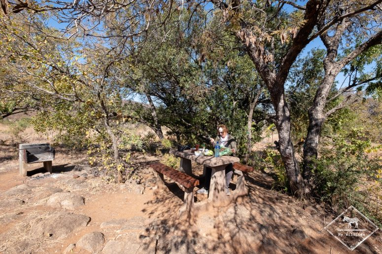 site de pique-nique, parc national Pilanesberg