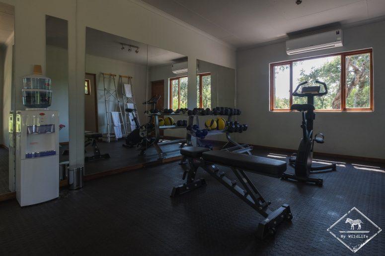 Salle de sports du Simbavati River Lodge
