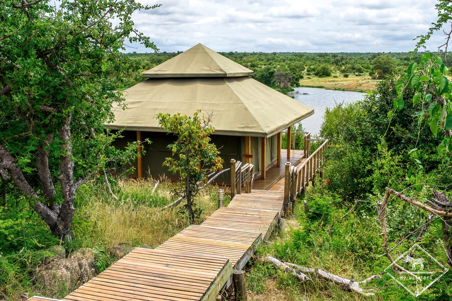 Tente de luxe du Simbavati Hilltop Lodge