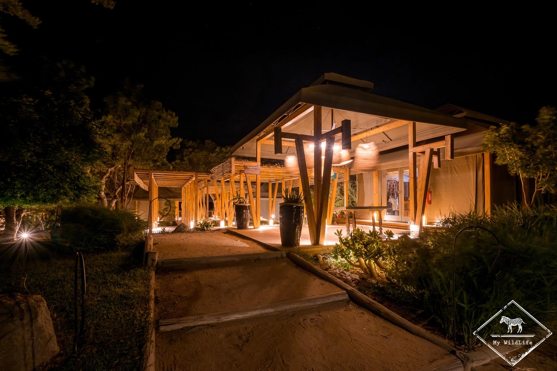 Entrée du Simbavati Hilltop Lodge