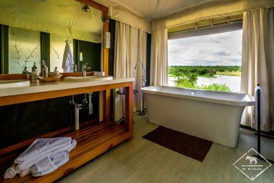 Salle de bain du Simbavati Hilltop Lodge