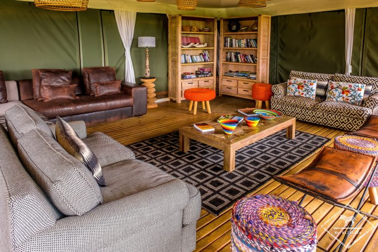 Lounge du Simbavati Hilltop Lodge