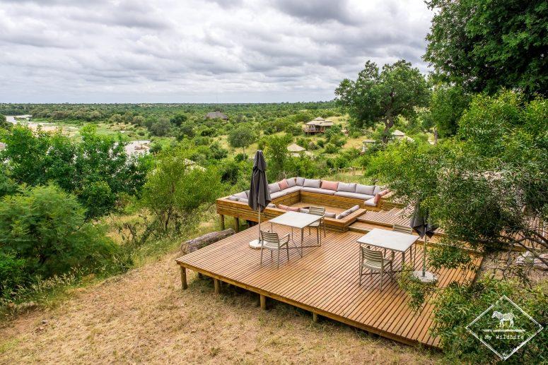 Terrasse du Simbavati Hilltop Lodge