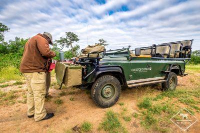 Pause safari avec le Simbavati Hilltop Lodge