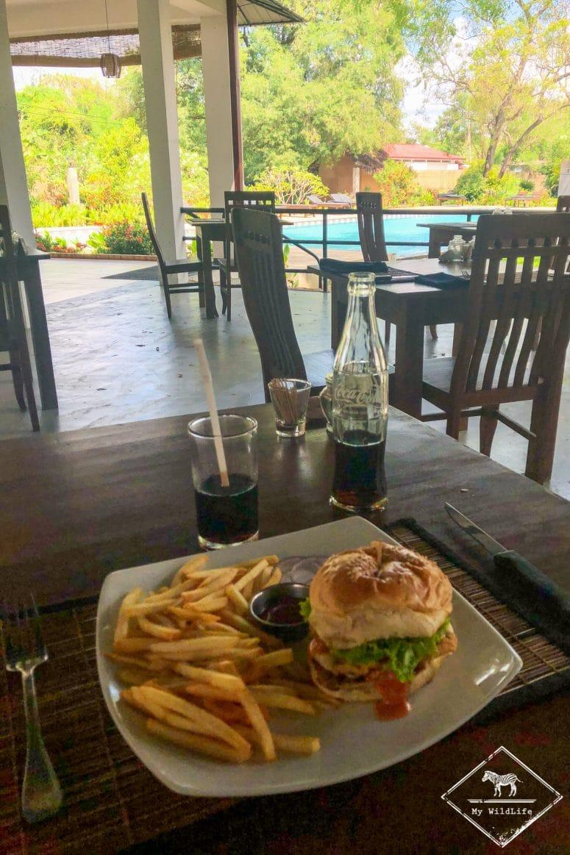Déjeuner Blue Turtle Hotel, Tissamaharama