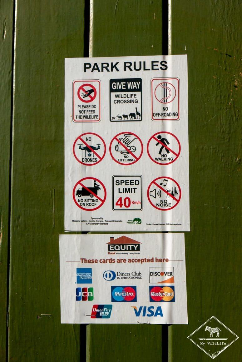 Règlement Tsavo Ouest