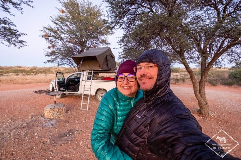 En safari, il peut faire froid