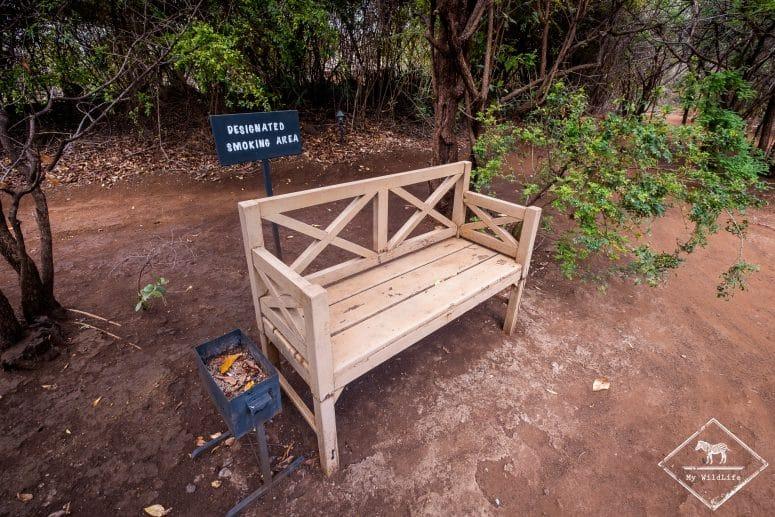 Zone fumeur de l'Ikweta Safari Camp