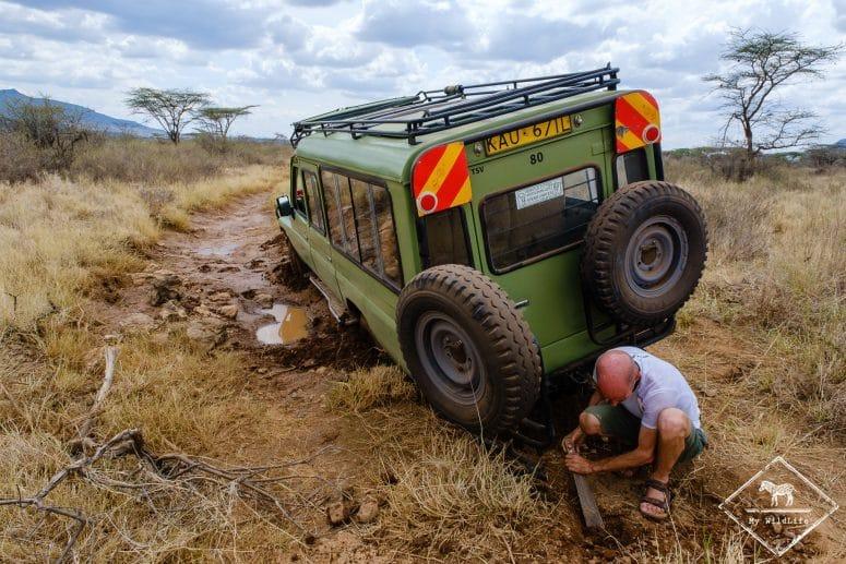 Embourbement, réserve nationale de Shaba