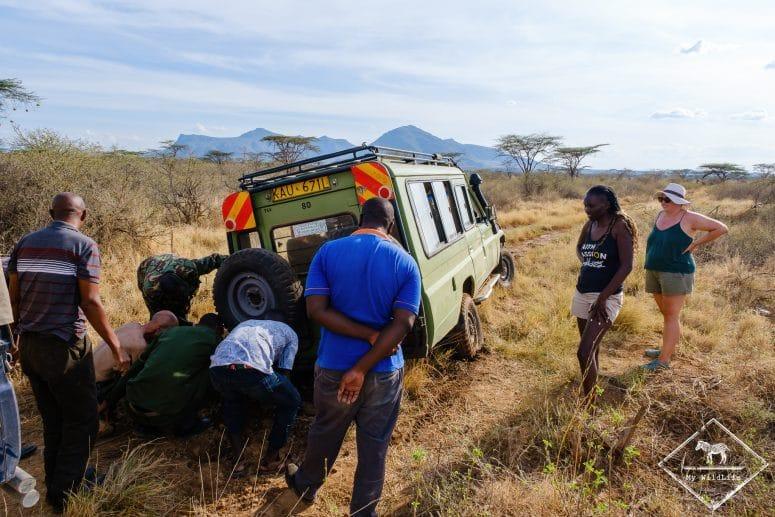 4x4 embourbé, réserve nationale de Shaba