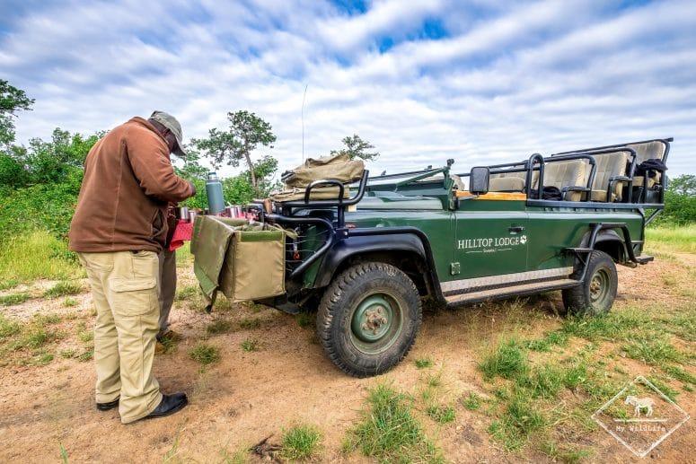 Pause en plein safari