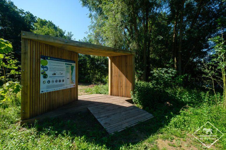 Porte d'entrée de l'espace naturel sensible des étangs de Cléry-sur-Somme
