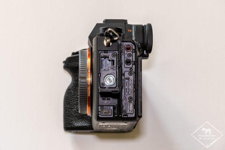 Connectiques du Sony Alpha 1
